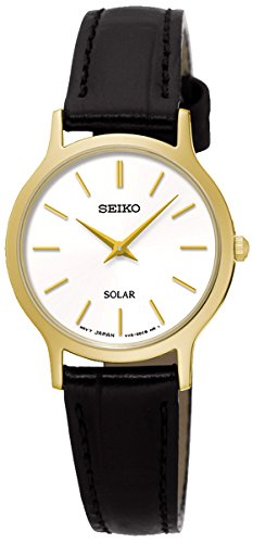 Seiko Solar Ladies Gold Plated Strap Watch