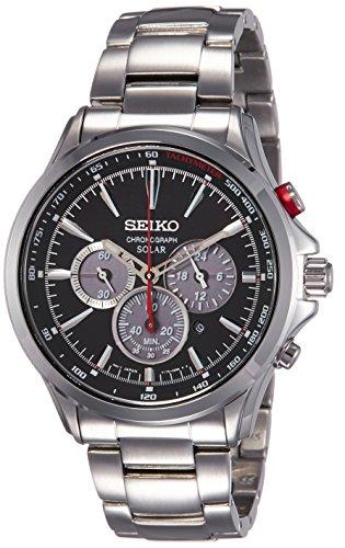 SEIKO Solar SSC493P1 Chronograph Stahl Man Silver