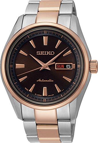 Seiko Srp536j1 Automatische Silber Stieg Gold Herren Ansehen Steel