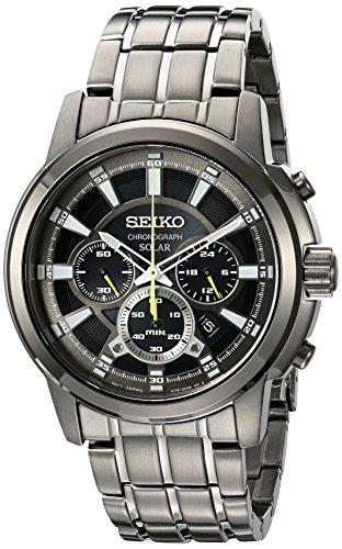 Seiko Herren ssc391 Solar Chrono Analog Display Japanisches Quarz Grau Armbanduhr