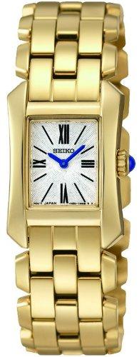 Seiko SUJG72P1 Damen Armbanduhr 045J699 Analog weiss Armband Stahl vergoldet Gold
