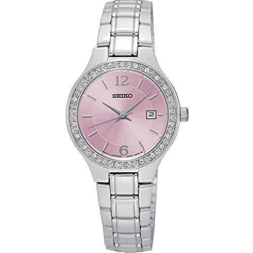 Seiko sur787 Damen Armband Edelstahl silber Band Rosa Zifferblatt Uhr