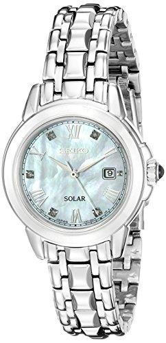 Seiko Damen sut243 Vogelfutter Station Solar Analog Display Japanisches Quartz Silber Uhr