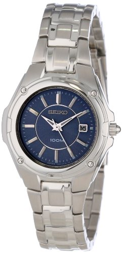 Seiko SXDB45 Womens Quartz Blue Dial Stainless Steel Watch