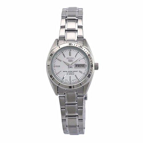Seiko symh05 K1 5 Lady Automatische 1076312 Analog Armband Stahl Grau