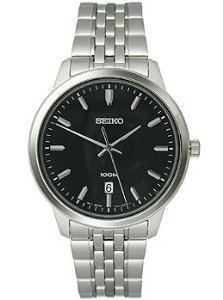 Seiko three hand Edelstahl Herren Armbanduhr sur031 von Seiko Uhren