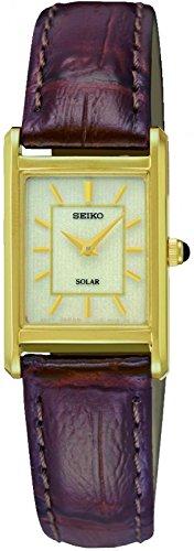 Seiko Unisex Armbanduhr Analog Quarz Leder SUP252P1