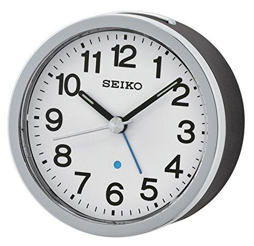 Seiko Unisex Wecker Analog Kunststoff schwarz QHE138K
