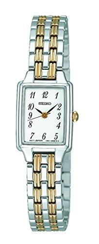 Seiko Womens Rectangular Face Bracelet Watch SXGL61