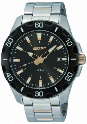 Seiko Herren-Armbanduhr XL Sport Analog Edelstahl SGEE51P1