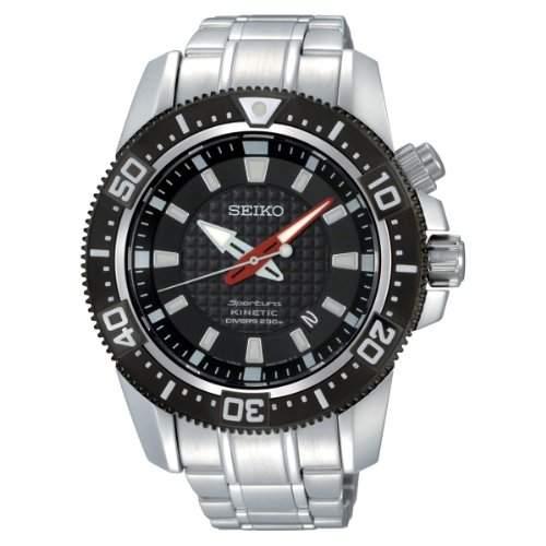 Seiko Herren-Armbanduhr XL Kinetic Diver Analog Automatik Edelstahl SKA511P1