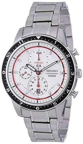 Seiko Herren-Armbanduhr XL Chronograph Quarz Edelstahl SNDF35P1