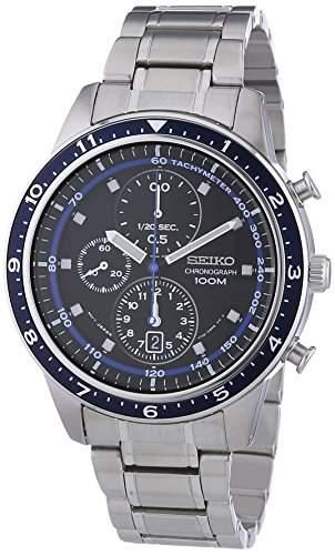 Seiko Herren-Armbanduhr Chronograph Quarz Edelstahl SNDF39P1