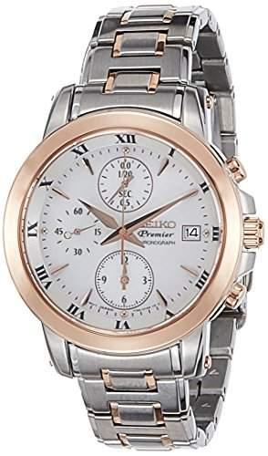 Seiko Damen-Armbanduhr Chronograph Quarz Edelstahl SNDV68P1