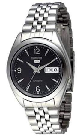 Seiko Herren-Armbanduhr 5 Gent Analog Automatik Edelstahl SNK135K1