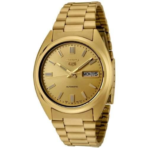 Seiko SNXS80 Goldverchromte Armbanduhr Automatik