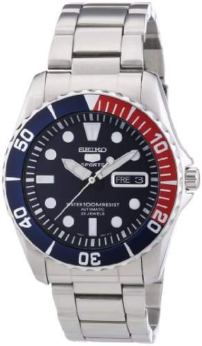 Seiko Herren-Armbanduhr XL Automatik Analog Automatik Edelstahl SNZF15K1