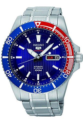 SEIKO 5 Sports SRP551K1 Automatik Taucheruhr 100 Meters Mens Watch Pepsi