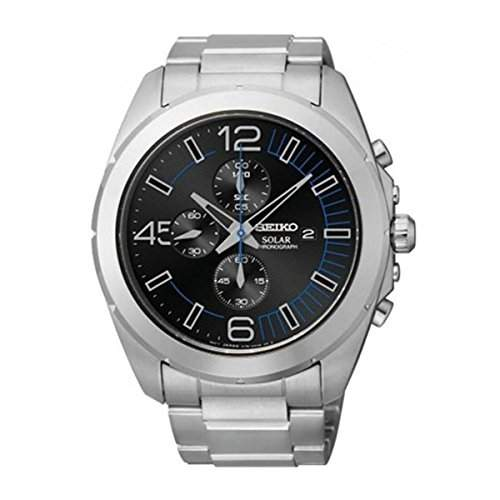 Seiko Herren-Armbanduhr Solar Chronograph Automatik Edelstahl SSC213P1