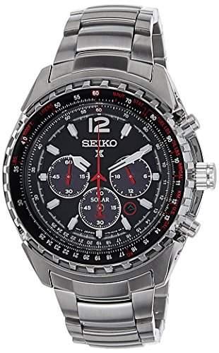Seiko Herren-Armbanduhr Chronograph Quarz Edelstahl SSC261P1