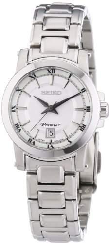 Seiko Damen-Armbanduhr XS Analog Quarz Edelstahl SXDF41P1