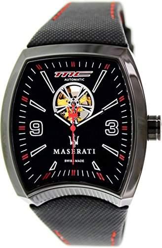 Maserati Herren-Armbanduhr XL Analog Quarz Leder R8821105003
