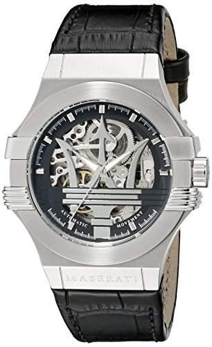 Maserati Herren-Armbanduhr XL Analog Automatik Leder R8821108001
