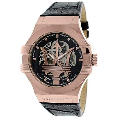 Maserati Herren-Armbanduhr XL Analog Automatik Leder R8821108002