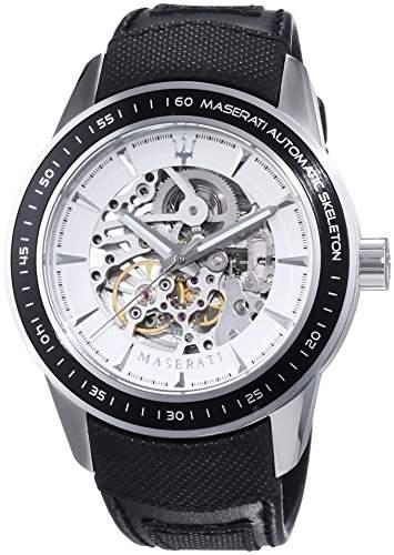 Maserati Herren-Armbanduhr XL Analog Automatik Leder R8821110003