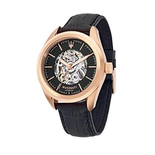Maserati Herren-Armbanduhr XL Analog Automatik Leder R8821112001