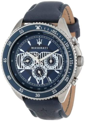 Maserati Herren-Armbanduhr XL Chronograph Quarz Kunstleder R8851101002