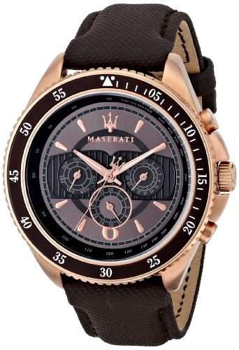 Maserati Herren-Armbanduhr XL Analog Quarz Textil R8851101006
