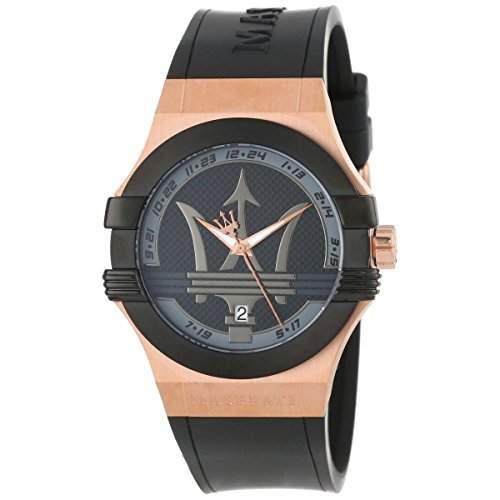 Maserati Herren-Armbanduhr XL Potenza Analog Quarz Kautschuk R8851108002