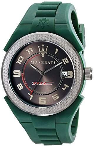 Maserati Herren-Armbanduhr XL Analog Quarz Silikon R8851115003