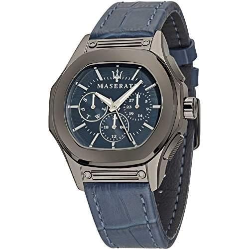 Maserati Herren-Armbanduhr XL Chronograph Quarz Leder R8851116001