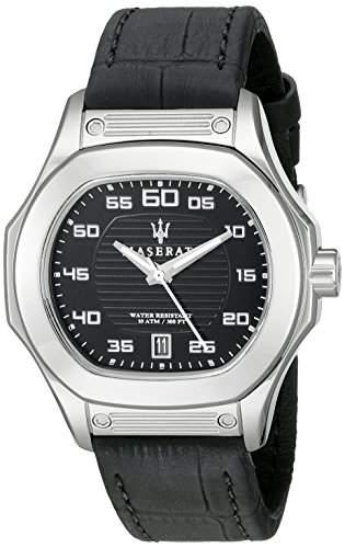Maserati Herren-Armbanduhr XL Analog Quarz Leder R8851116004