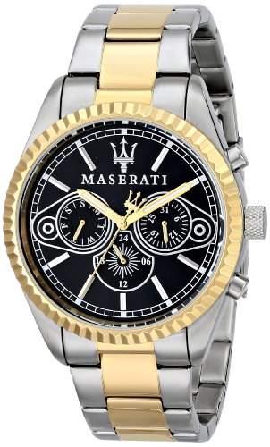 Maserati Herren-Armbanduhr XL Analog Quarz Edelstahl R8853100008