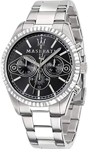 Maserati Herren-Armbanduhr XL Chronograph Quarz Edelstahl R8853100010