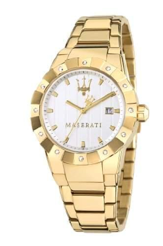 Maserati Damen-Armbanduhr Analog Quarz Edelstahl R8853103502