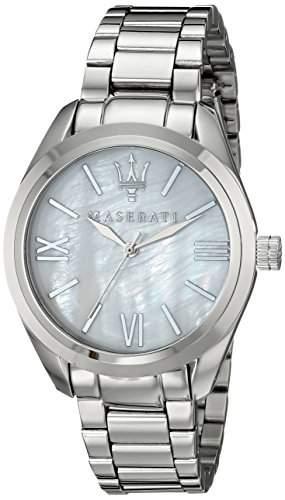 Maserati Damen-Armbanduhr Analog Quarz Edelstahl R8853112501