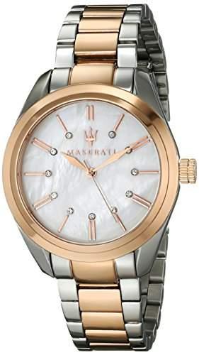 Maserati Damen-Armbanduhr Analog Quarz Edelstahl R8853112503