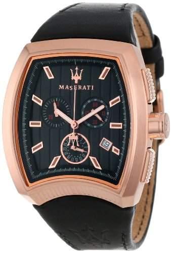 Maserati Herren-Armbanduhr XL Chronograph Quarz Leder R8871605003