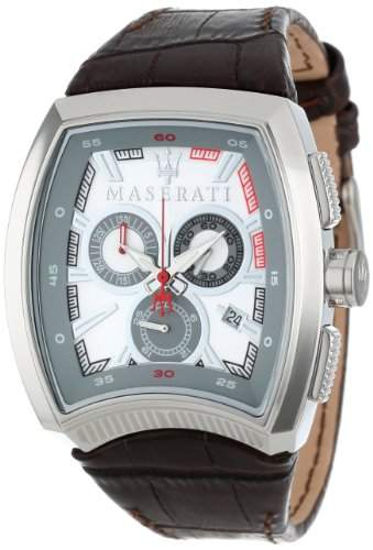 Maserati Herren-Armbanduhr XL Chronograph Quarz Leder R8871605004
