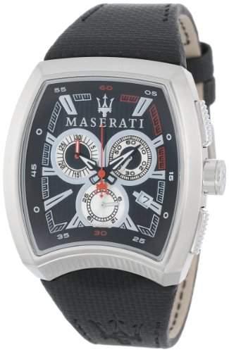 Maserati Herren-Armbanduhr XL Chronograph Quarz Leder R8871605005