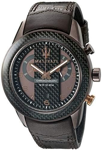 Maserati Herren-Armbanduhr XL Chronograph Quarz Leder R8871610003