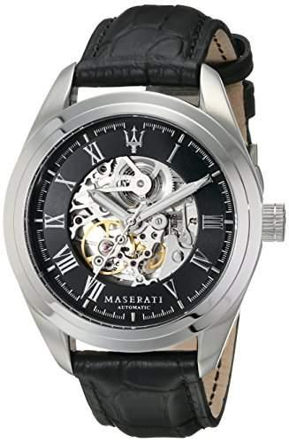 Maserati Herren-Armbanduhr XL Analog Automatik Leder R8871612001