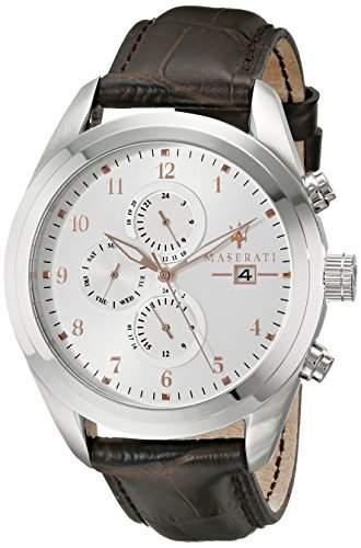 Maserati Herren-Armbanduhr XL Chronograph Quarz Leder R8871612003