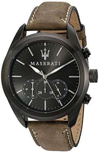 Maserati Herren-Armbanduhr XL Chronograph Quarz Leder R8871612005