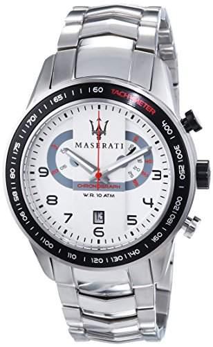 Maserati Herren-Armbanduhr XL Chronograph Quarz Edelstahl R8873610001