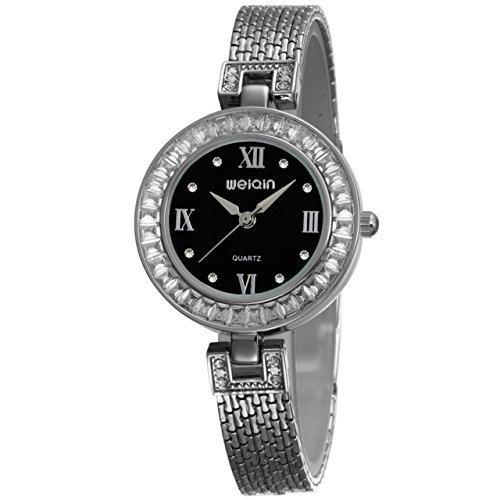 Neueste Modell 2015 Damen Frauen Silber Duenn Armband Edelstahl Kleid Armbanduhr